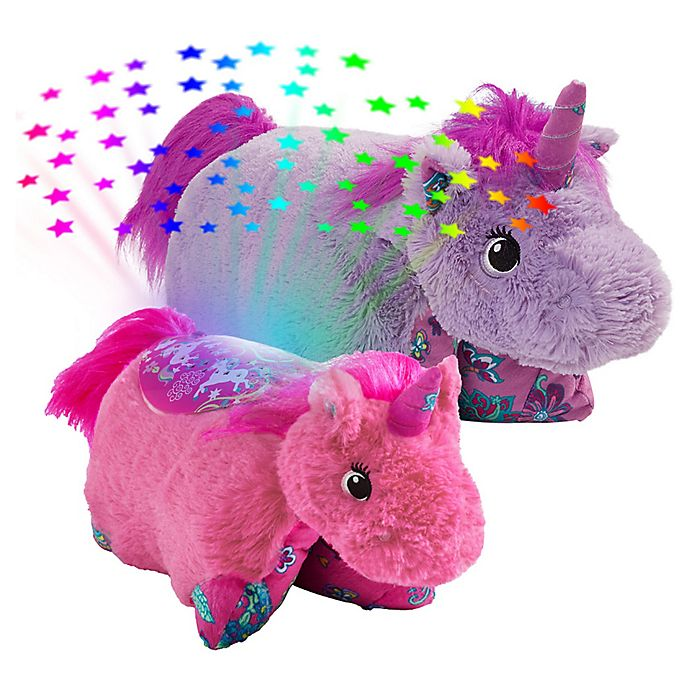 Alternate image 1 for Pillow Pets® 2-Piece Unicorn Pillow and Unicorn Sleeptime Lite Set in Lavender/Pink