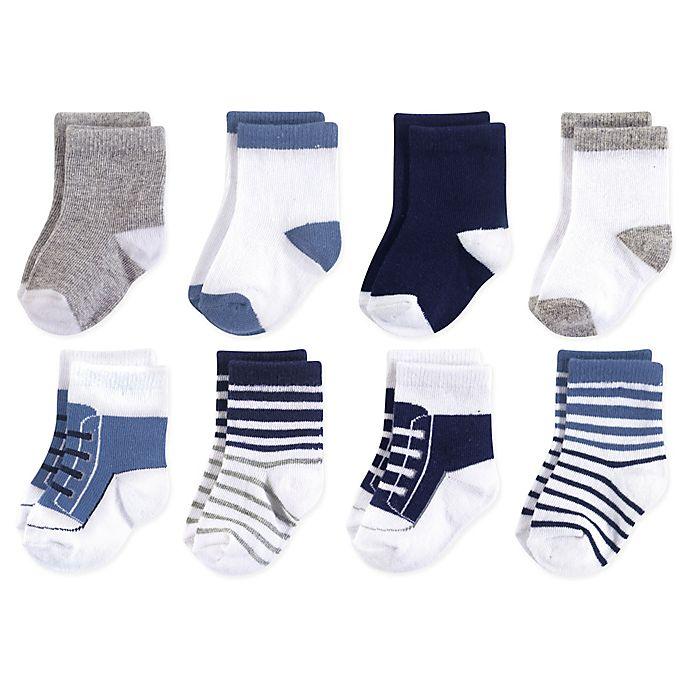 Alternate image 1 for Luvable Friends® 8-Pack Crew Socks