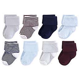 Luvable Friends® 8-Pack Stripe Cuff Socks in Blue