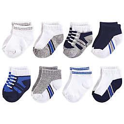 Luvable Friends™ 8-Pack No Show Sneaker Socks in Blue