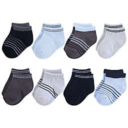 Hudson Baby® 8-Pack No Show Socks in Blue