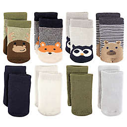 Luvable Friends™ 8-Pack Cotton Terry Fox/Owl Crew Socks