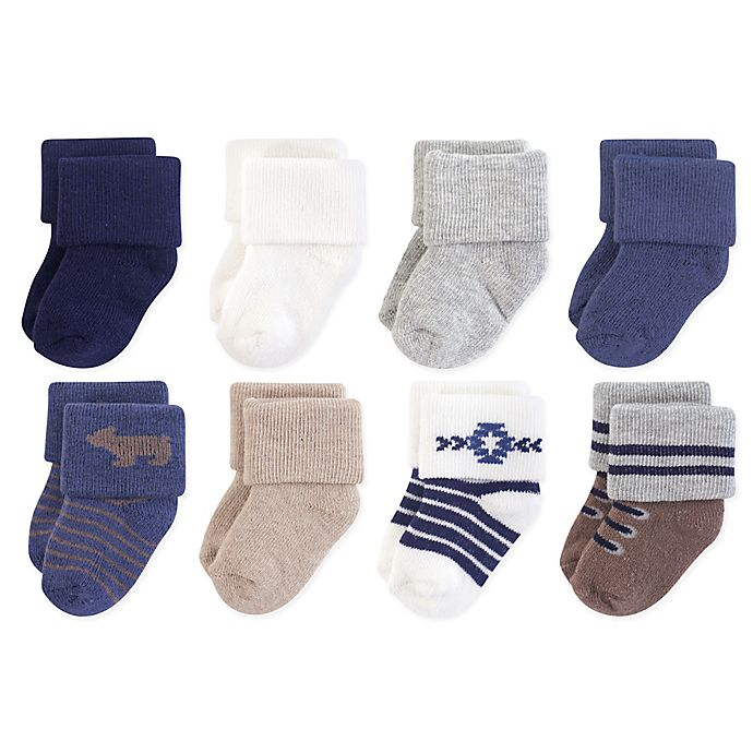 Alternate image 1 for Hudson Baby® 8-Pack Bear Terry Socks
