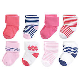 Touched by Nature 8-Pack Organic Cotton Terry Socks