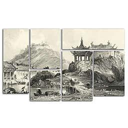 Trademark Fine Art In China II Canvas Wall Art (Set of 6)