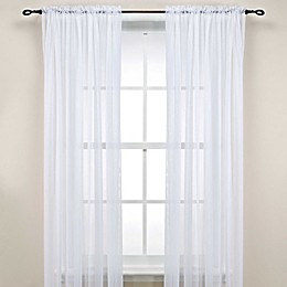 Rod Pocket Sheer 63-Inch Window Curtain Panel