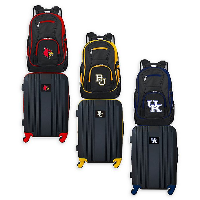 Alternate image 1 for Collegiate Backpack and 21-Inch Hardside Spinner Carry On Luggage Set Collection