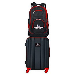 Gonzaga University Backpack and 21-Inch Hardside Spinner Carry On Luggage Set