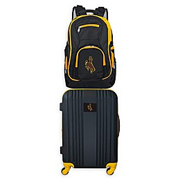 University of Wyoming Backpack and 21-Inch Hardside Spinner Carry On Luggage Set
