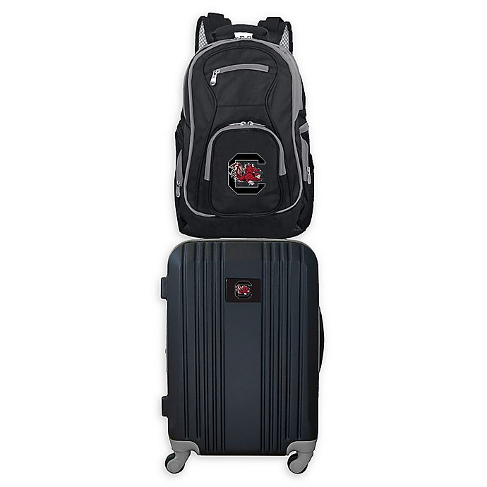 Alternate image 1 for University of South Carolina Backpack and 21-Inch Hardside Spinner Carry On Luggage Set