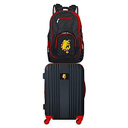 Ferris State University Backpack and 21-Inch Hardside Spinner Carry On Luggage Set