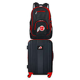 University of Utah Backpack and 21-Inch Hardside Spinner Carry On Luggage Set