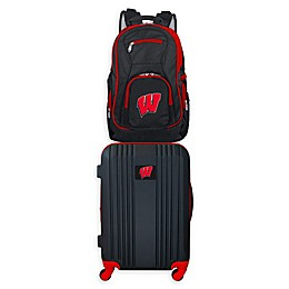 University of Wisconsin Backpack and 21-Inch Hardside Spinner Carry On Luggage Set