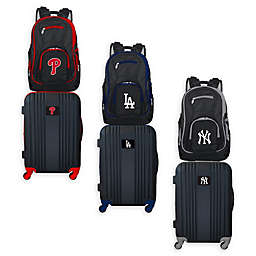 MLB 2-Piece Backpack and 21-Inch Hardside Spinner Carry-On Luggage Set Collection