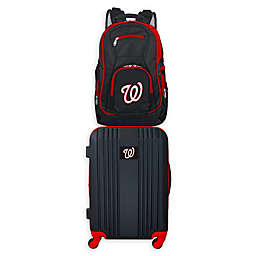 MLB Washington Nationals 2-Piece Backpack and 21-Inch Hardside Spinner Carry-On Luggage Set