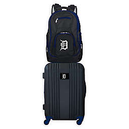 MLB Detroit Tigers 2-Piece Backpack and 21-Inch Hardside Spinner Carry-On Luggage Set