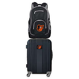 MLB Baltimore Orioles 2-Piece Backpack and 21-Inch Hardside Spinner Carry-On Luggage Set