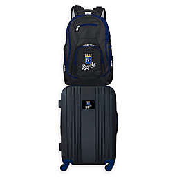 MLB Kansas City Royals 2-Piece Backpack and 21-Inch Hardside Spinner Carry-On Luggage Set