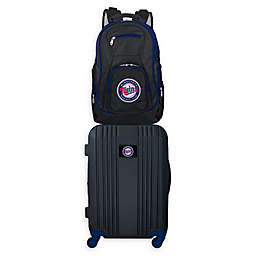 MLB Minnesota Twins 2-Piece Backpack and 21-Inch Hardside Spinner Carry-On Luggage Set