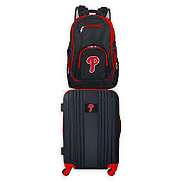 MLB Philadelphia Phillies 2-Piece Backpack and 21-Inch Hardside Spinner Carry-On Luggage Set