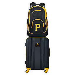 MLB Pittsburgh Pirates 2-Piece Backpack and 21-Inch Hardside Spinner Carry-On Luggage Set