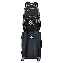 MLB Seattle Mariners 2-Piece Backpack and 21-Inch Hardside Spinner Carry-On Luggage Set