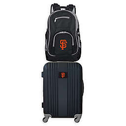 MLB San Francisco Giants 2-Piece Backpack and 21-Inch Hardside Spinner Carry-On Luggage Set