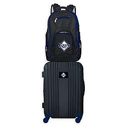 MLB Tampa Bay Rays 2-Piece Backpack and 21-Inch Hardside Spinner Carry-On Luggage Set