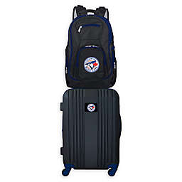 MLB Toronto Blue Jays 2-Piece Backpack and 21-Inch Hardside Spinner Carry-On Luggage Set