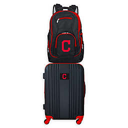 MLB Cleveland Indians 2-Piece Backpack and 21-Inch Hardside Spinner Carry-On Luggage Set