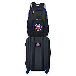 MLB Chicago Cubs 2-Piece Backpack and 21-Inch Hardside Spinner Carry-On Luggage Set