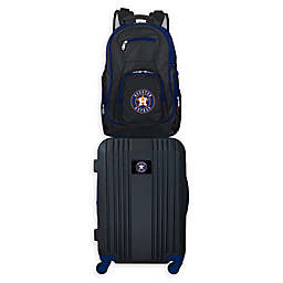 MLB Houston Astros 2-Piece Backpack and 21-Inch Hardside Spinner Carry-On Luggage Set