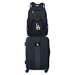 MLB Los Angeles Dodgers 2-Piece Backpack and 21-Inch Hardside Spinner Carry-On Luggage Set