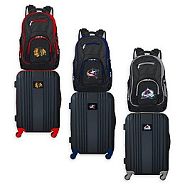 NHL 2-Piece Backpack and 21-Inch Hardside Spinner Carry-On Luggage Set Collection