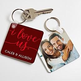 """""""I Love Us"""" Photo Keychain"""