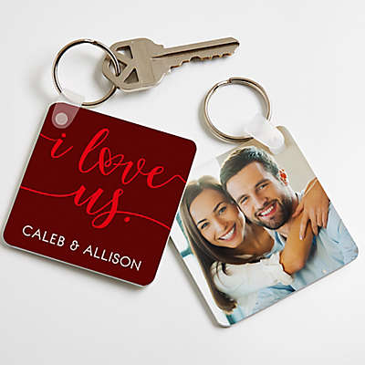 """I Love Us"" Photo Keychain"
