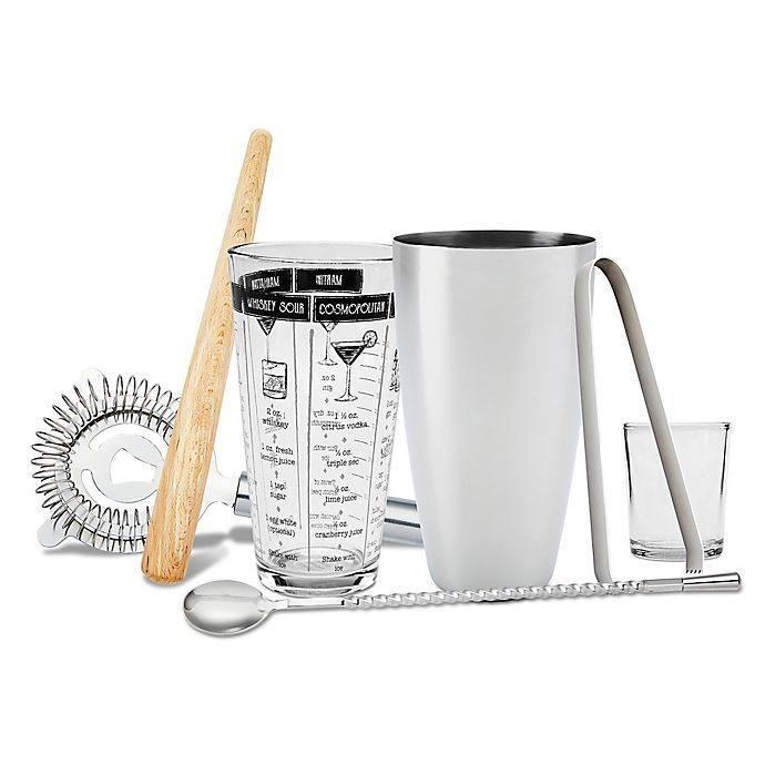 Alternate image 1 for Refinery 7-Piece Mixology Tool Set in Stainless Steel