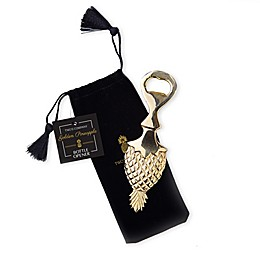 Golden Pineapple Bottle Opener with Gift Pouch