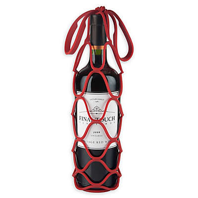 Final Touch® Up & Away Collapsible Silicone Bottle Bag in Red
