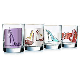 Luminarc Girlfriends Assorted Double Old Fashioned Glasses (Set of 4)