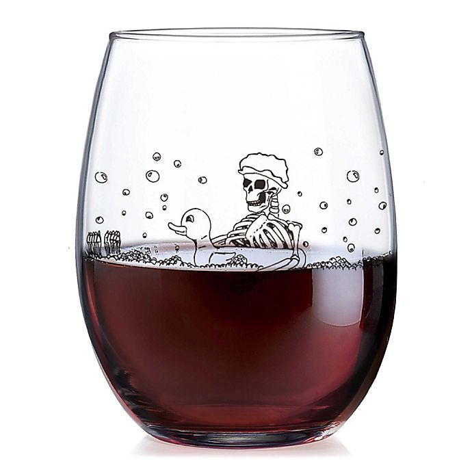 Alternate image 1 for Luminarc Blood Bath Stemless Wine Glass