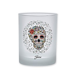 Fiesta® Halloween Sugar Skull and Vine Frosted Double Old Fashioned Glasses (Set of 4)