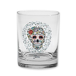 Fiesta® Halloween Sugar Skull and Vine Double Old Fashioned Glasses (Set of 4)