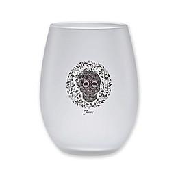 Fiesta® Skull and Vine Stemless Wine Glasses (Set of 4)