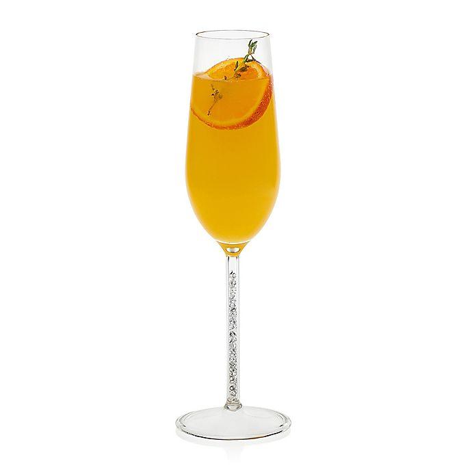 Alternate image 1 for Libbey® Glint Silver Stem Flute Glasses (Set of 2)