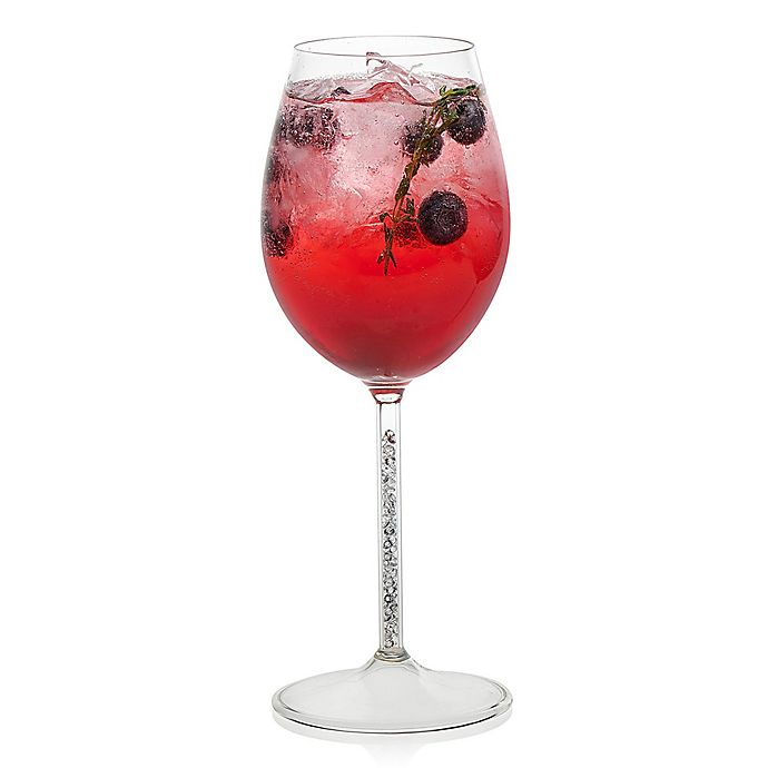 Alternate image 1 for Libbey® Glint Silver Stem Wine Glasses (Set of 2)
