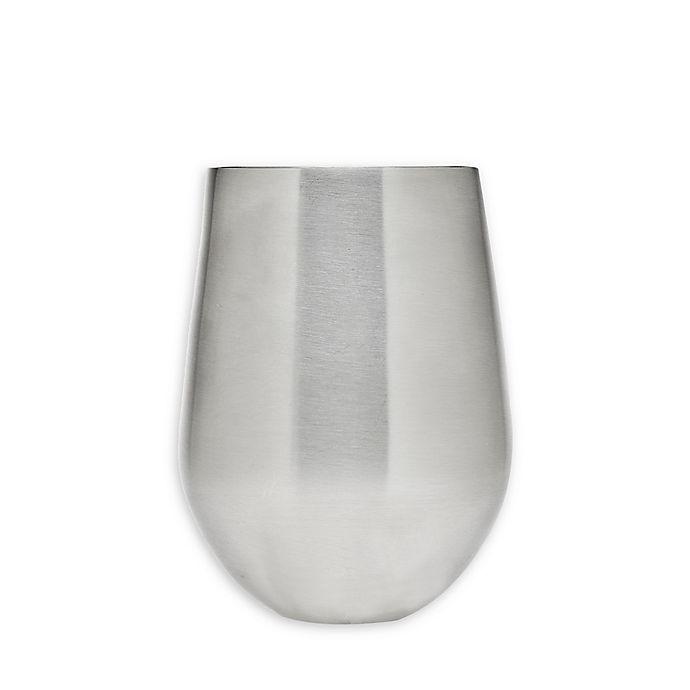 Alternate image 1 for Godinger Stemless Wine Glasses in Stainless Steel (Set of 2)
