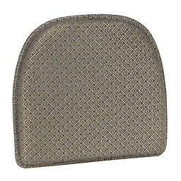 Shimmer Platinum Gripper Chair Pad