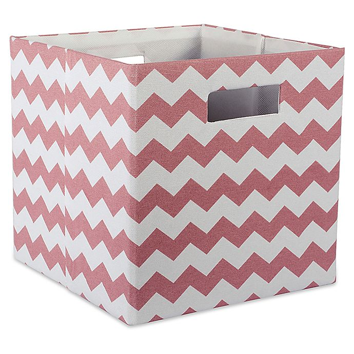 Alternate image 1 for Design Imports Chevrons 11-Inch Storage Cube