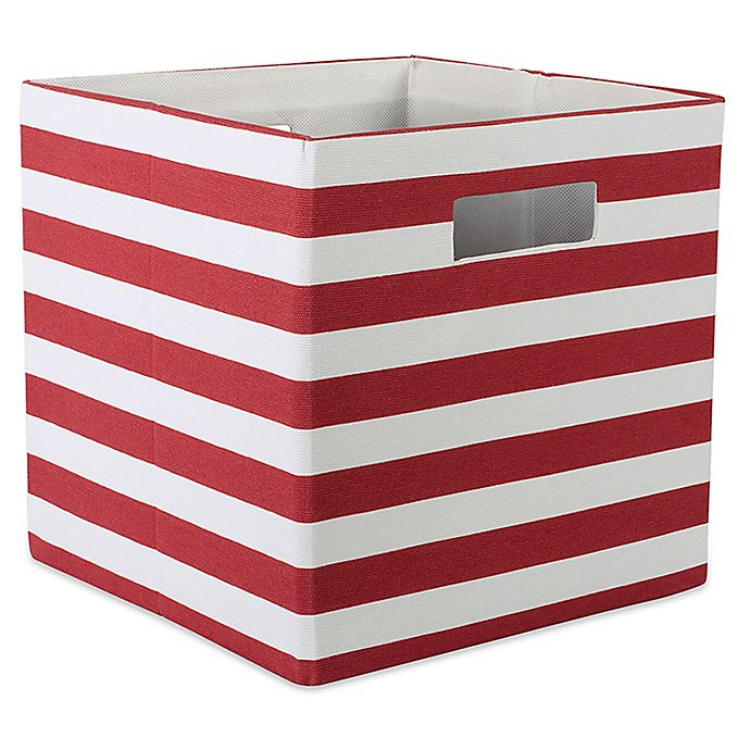 Striped 11 Inch Storage Cube